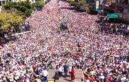 Фотофакт: Тысячи венесуэльцев встречают Хуана Гуаидо