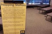 Библиотеку Университета Мичигана оборудовали койками для сна