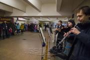 Музыканты сыграли произведения Баха в переходах минского метро