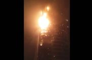 В Дубае загорелся небоскреб «Факел»