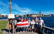 Белорусы Швеции провели акцию солидарности в Стокгольме