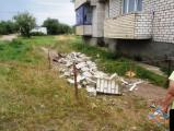 В поселке под Волковыском ветром сдуло балкон