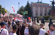 «Лукашенко – в автозак»: брестчане вышли в центр города на Марш за Свободу