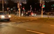 Минчане перекрывают проспект Рокоссовского