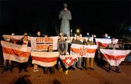 Белорусы Киева, Санкт-Петербурга и Москвы вышли на акции солидарности со своими земляками