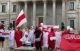 Белорусы Испании вышли на оригинальную акцию солидарности в Мадриде