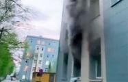 Пожар в московской больнице для инфицированных коронавирусом попал на видео
