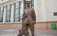 Бездомный набросил цепочку на шею памятника городовому в Минске
