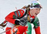 Домрачева - на четвертом месте в гонке преследования на этапе Кубка мира