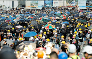В Гонконге тысячи людей вышли на новую акцию протеста