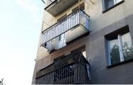 В жилом доме в Минске обрушился балкон