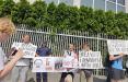 Белорусы Варшавы вышли на акцию в поддержку Тихановского, Статкевича и других героев