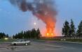Над «Нафтаном» и «Полимиром» зажгли аварийные факелы