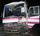 Автобус с 20 пассажирами врезался в прицеп трактора на автодороге Кобрин-Гомель