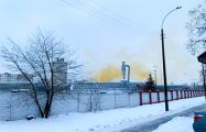 В МЧС рассказали, что за оранжевый дым вчера видели минчане на Филимонова