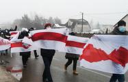 Жители Колодищей вышли на субботний марш
