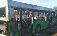 Видеофакт: в Осиповичах дотла сгорел пассажирский автобус