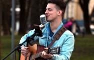 Уличный музыкант из Минска сыграл для гродненцев большой концерт