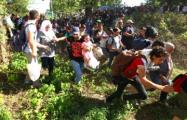 Беженцы прорвали кордон полиции и проникли в Хорватию из Сербии