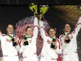 Белорусская мужская сабельная команда завоевала серебро на чемпионате мира по фехтованию в Италии