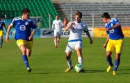 На матче «Нафтан» – «Динамо» фанат пробрался к скамейке запасных минчан