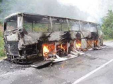В Черногории российские туристы спаслись из загоревшегося автобуса