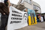 Акция в Варшаве: Свободу политзаключенным Беларуси!