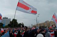 Свободные районы Минска вышли на Марш под своими флагами