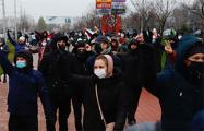Бесконечные потоки протестующих на улицах Минска