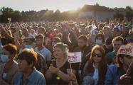 Яркий фоторепортаж с митинга Светланы Тихановской в Слониме