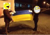 Фотофакт: Флаг Украины у Барановичского райисполкома