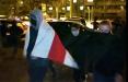 Во время марша в Малиновке милицейское авто уступило дорогу протестующим