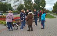 На центральной площади Светлогорска подняли флаги с «Погоней» и символикой ЕС