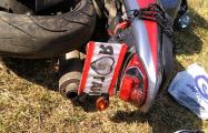 В Минске мотоцикл с номером «Я люблю ГАИ» врезался в патрульный автомобиль
