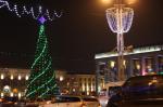 Праздничную иллюминацию в Минске включили на одни сутки