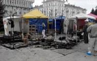 Неизвестные сожгли палатки Евромайдана в Сумах