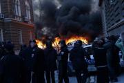 В Сараево подожгли президентский дворец