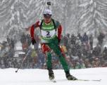Дарья Домрачева выиграла гонку преследования на этапе Кубка мира по биатлону в Хохфильцене