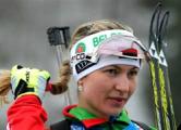 Домрачева - десятая в гонке преследования в Антхольце