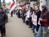 Студенты вышли на акцию солидарности с Беларусью  (Фото)