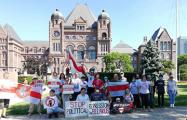 Белорусы Торонто вышли на пикет солидарности
