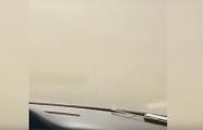 На трассу под Пружанами налетела песчаная буря