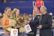 Виктория Азаренко выиграла у Каролин Возняцки в благотворительном матче