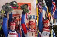 Белорусы заняли 13-е место в эстафете на этапе Кубка мира по биатлону