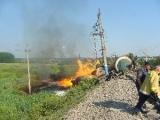В Латвии благодарны Беларуси за помощь в ликвидации последствий аварии товарного поезда