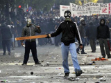 В Греции погиб участник уличных беспорядков