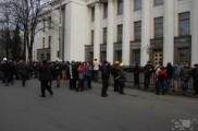 Временный президент Украины демонтировал ограду вокруг Верховной Рады