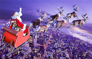 В сторону Беларуси летит праздничный экипаж Санта-Клауса