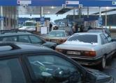 Audi с гранатой заблокировал движение на границе