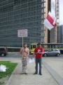 Белорусы пикетировали здание Еврокомиссии в Брюсселе (Фото)